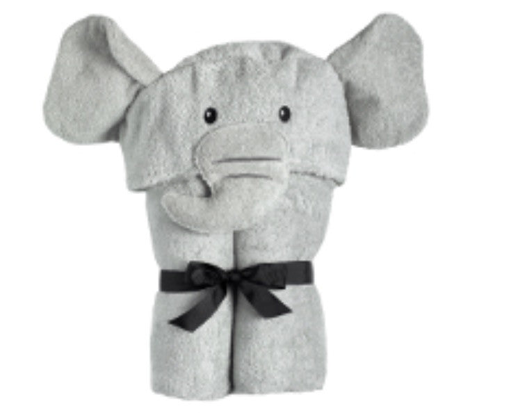 Yikes Twins Elephant Hooded Towel - Belle Bellina