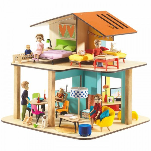 Djeco Dollhouse - Modern House - Belle Bellina