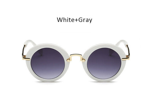 Girls Fashion Children Round Sunglasses - Circle Frame