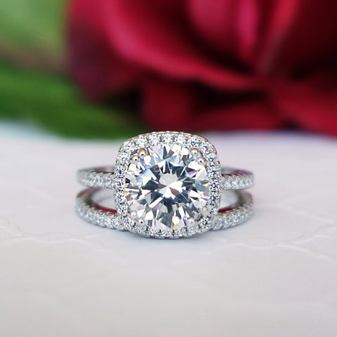 2 ct Oval Solitaire Set