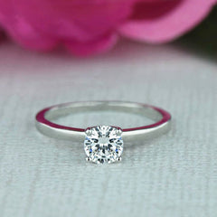 1/2 ct Solitaire Ring, 40% off Final Sale, Sz 8-12