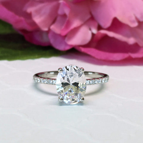 3 ct 4 Prong Solitaire Ring