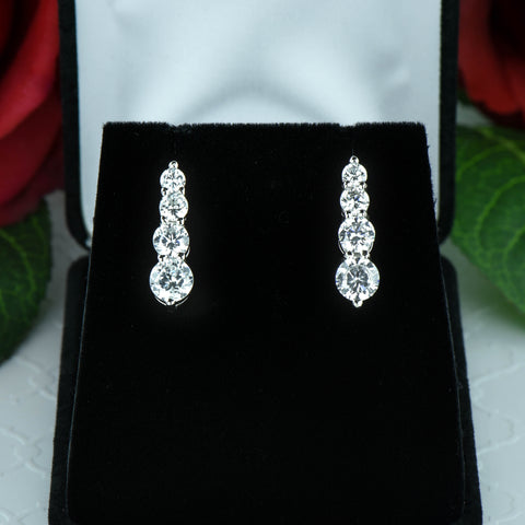 2 ctw Round Halo Earrings