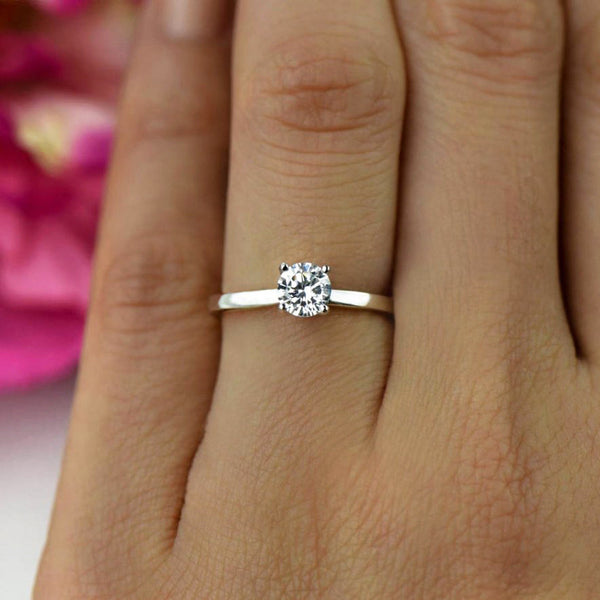 1/2 ct Solitaire Ring, 50% off Final Sale, Sz 9-12