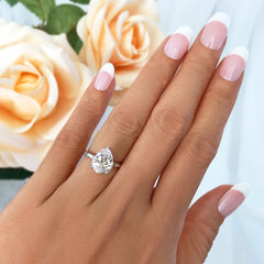 3 ct Pear Solitaire Ring - 30% Final Sale