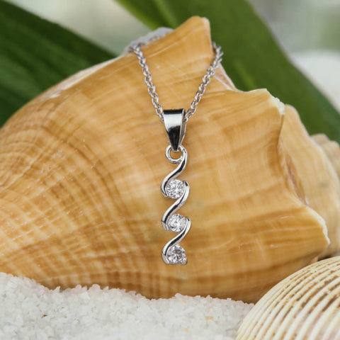 .1 ct Modern Cross Necklace