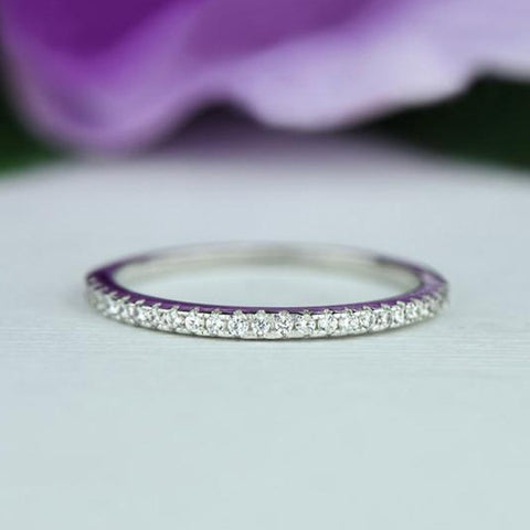 Art Deco Band - 10k Solid White Gold