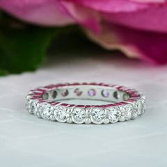 2 ctw Classic Eternity Band - 10k Solid White Gold