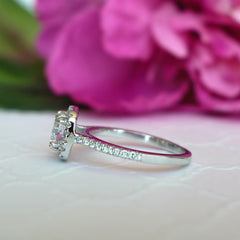 1.25 ctw Classic Square Halo Ring