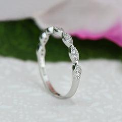 Small Art Deco Half Eternity Band