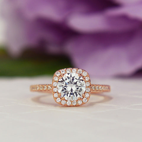 3.5 ctw Pear Halo Ring