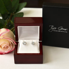 3 ctw 6 Prong Stud Earrings