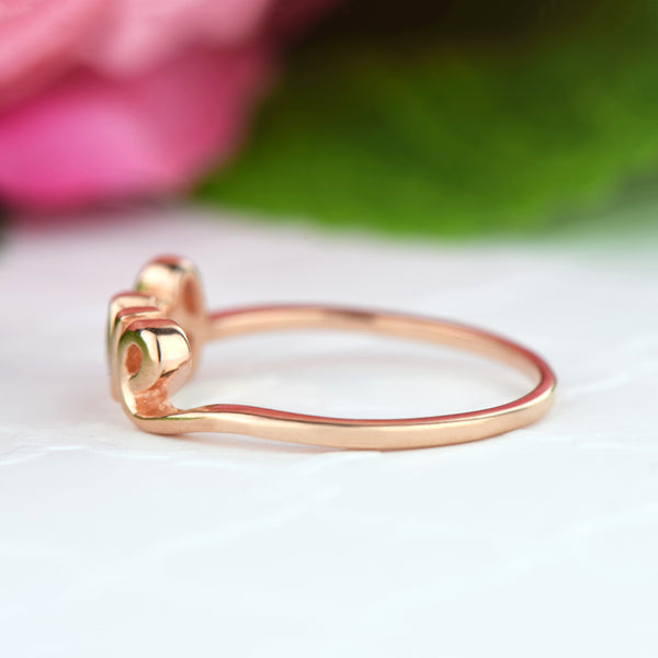 .1 ct Cursive Love Ring - Rose GP - Final Sale