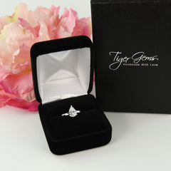 1.2 ct Pear Solitaire Ring