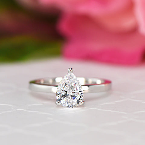 1.2 ct Pear Solitaire Ring - 30% Final Sale