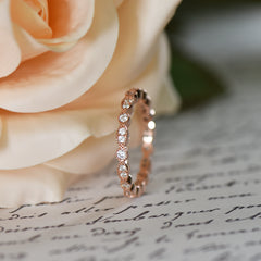 Art Deco Marquise Eternity Band - Rose GP