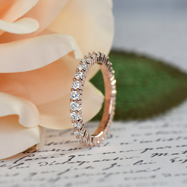 1 ctw 2mm Eternity Band - Rose GP