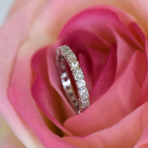 3/4 ct Engraved Princess Ring - 14k Yellow Gold, Sz 7