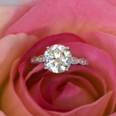 3.25 ctw Wide Art Deco Solitaire Ring, Sz 4 or 9