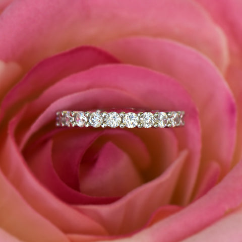 .2 ctw Princess Channel Half Eternity Band