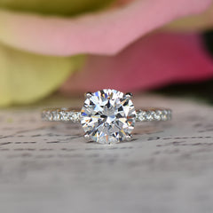 2.25 ctw Round Accented Ring