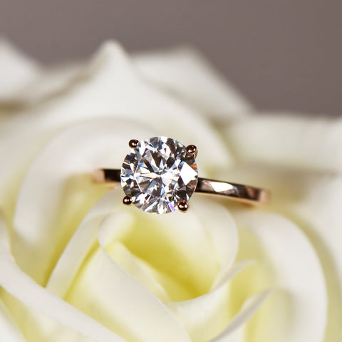 1 ct 6 Prong Solitaire Ring - 14k Yellow Gold, Sz 7-8