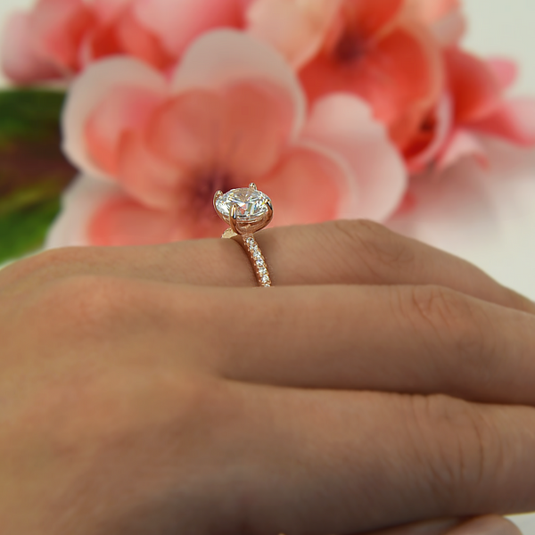 2.25 ctw Round Accented Ring - Rose GP, 30% Final Sale