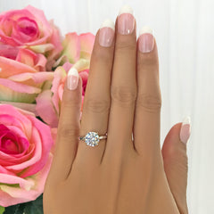 2 ct 4 Prong Stacking Solitaire Ring