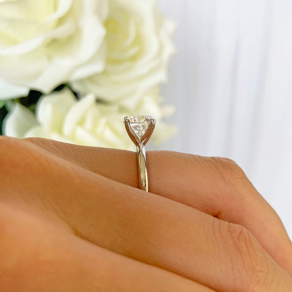 2 ct Classic V Style 4 Prong Solitaire Ring