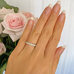 1 ctw Half Eternity Band