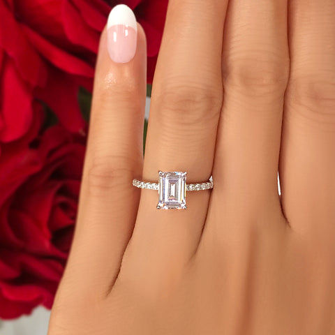 2.25 ctw Oval Accented Art Deco Solitaire Set- Rose GP