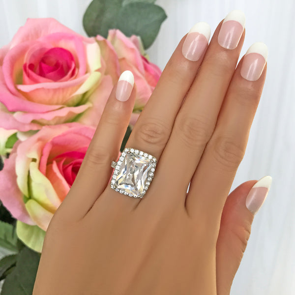 15 ctw Radiant Halo Ring - 40% Final Sale