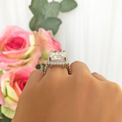 15 ctw Radiant Halo Ring - 60% Final Sale