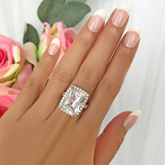 15 ctw Radiant Halo Ring - Final Sale
