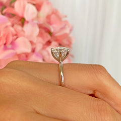 4 ct Classic 6 Prong V Style Solitaire Ring - 40% Final Sale