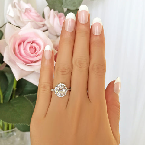 1.25 ctw Round Baguette Solitaire Ring - 60% Final Sale