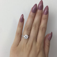 3.25 ctw Round Accented Ring