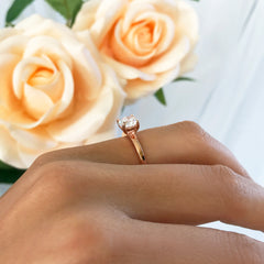 1 ct Solitaire Ring, Stacking Style - Rose GP