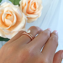 1 ct Round Stacking Solitaire Set - Rose GP