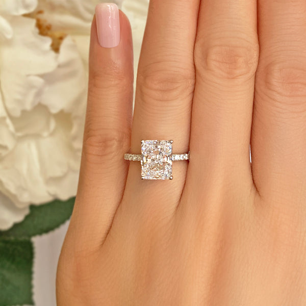 3.75 ctw Radiant Accented Solitaire Ring
