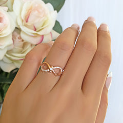 .1 ctw Accented Infinity Ring - Rose GP, 40% Final Sale