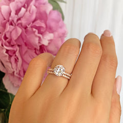 2.25 ctw Round Accented Solitaire Set - Rose GP, 40% Final Sale
