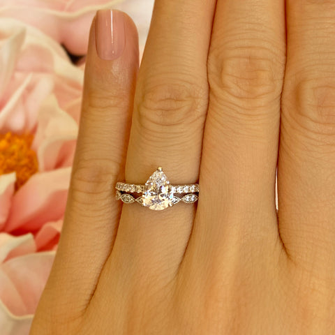 3.25 ctw Round Accented Solitaire Set - Rose GP