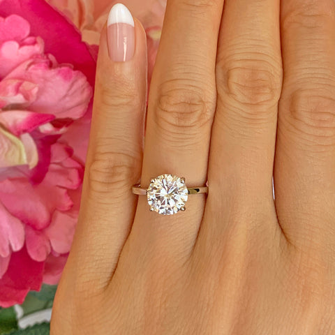 1/2 ct Solitaire Ring - 10k Solid Rose Gold