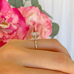 3 ct 4 Prong Stacking Solitaire Ring