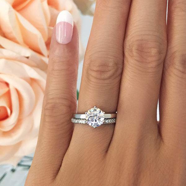 1.5 ct 6 Prong Solitaire Set