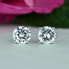 4 ctw 4 Prong Stud Earrings