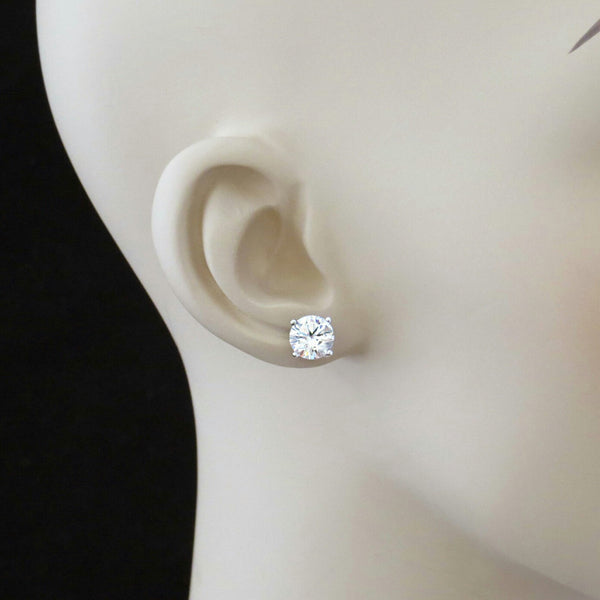 4 ctw 4 Prong Stud Earrings, 2 ct Each - 30% Final Sale