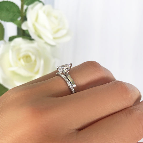 1.2 ct Pear Solitaire Set
