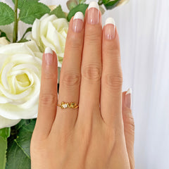 .1 ct Cursive Love Ring - Yellow GP, 40% Final Sale